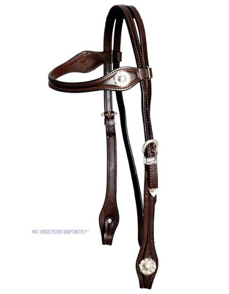 Westerntrense Silver Headstall