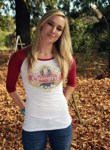 High Class Cowgirl Burnout Baseball Shirt