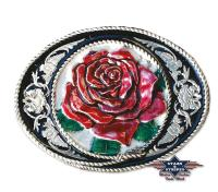Westernbuckle Gürtelschnalle Rose